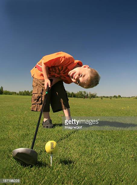Young Caucasian Male Junior Golfer