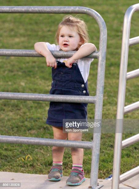 A young Chattanooga Mocs fan looks thru the railing The Western Carolina Catamounts defeated the Chattanooga Mocs 45 7 at Finley stadium in...