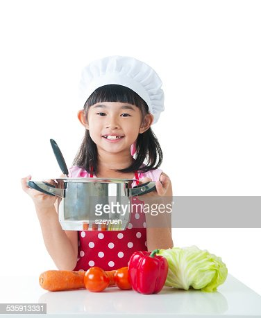 Young chef : Foto de stock