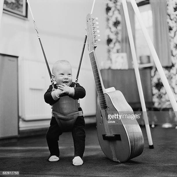 A young Chesney Hawkes at the home of his parents Len 'Chip' Hawkes of The Tremeloes and actress Carol Dilworth 10th February 1972