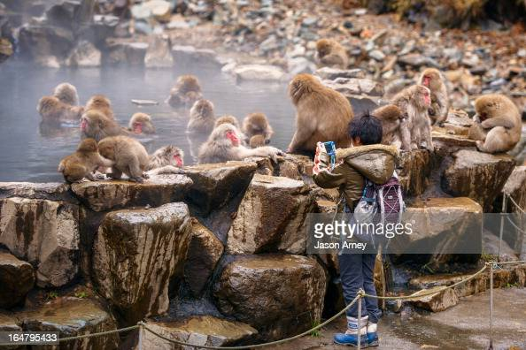 CONTENT] Young child uses his toy camera to capture the famous 'Jigokudani' monkey spas in Nagano Japan He clearly understands 'get closer'