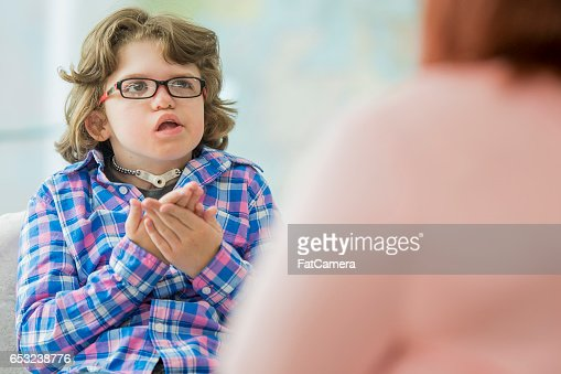 Young Child with a Disability : Stock Photo