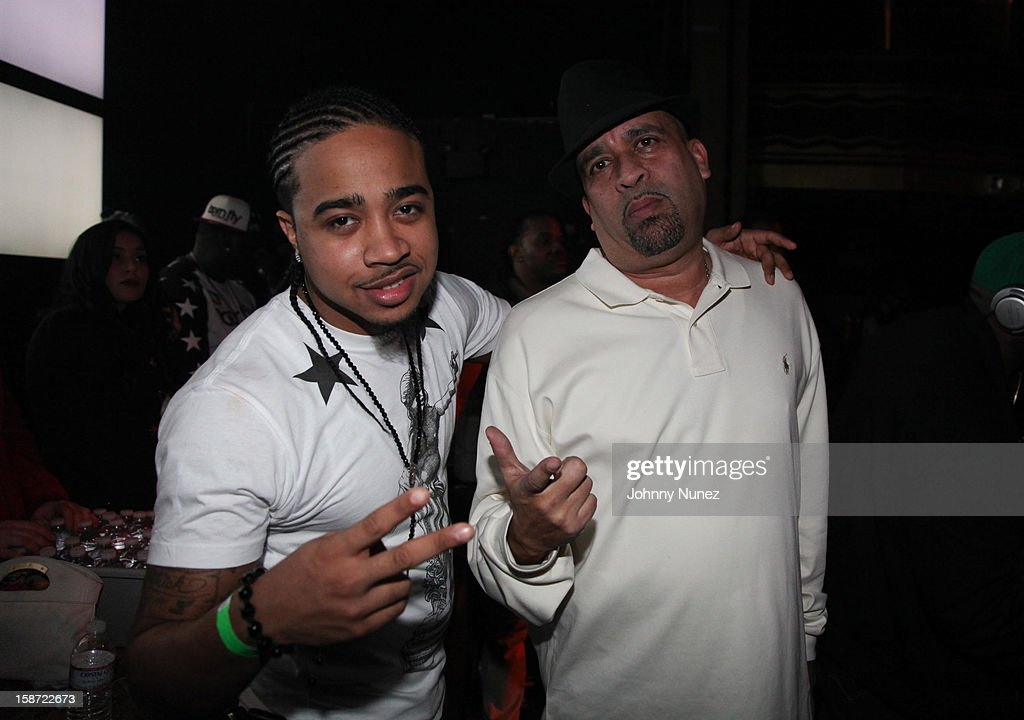 DJ Young Chow and promoter Joe Jackson attend Nicki Minaj's Christmas Extravaganza at Webster Hall on December 25, 2012 in New York City.