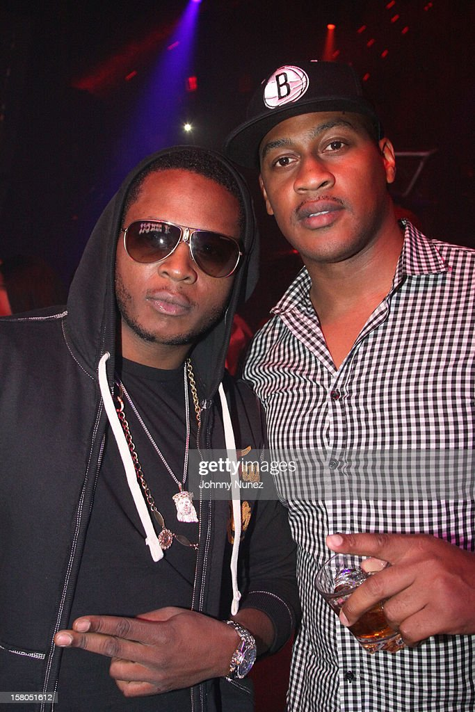 Young Chris and Richard McLeod attend the D'USSE cognac launch party at LIV nightclub at Fontainebleau Miami on December 9, 2012 in Miami Beach, Florida.