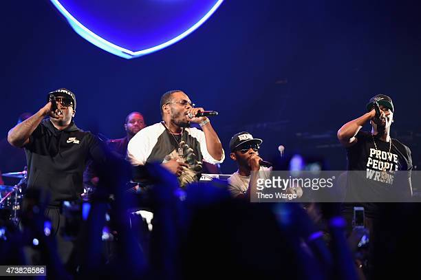 Young Chris Beanie Sigel Neef Buck and Memphis Bleek perform during TIDAL X JayZ Bsides in NYC on May 17 2015 in New York City