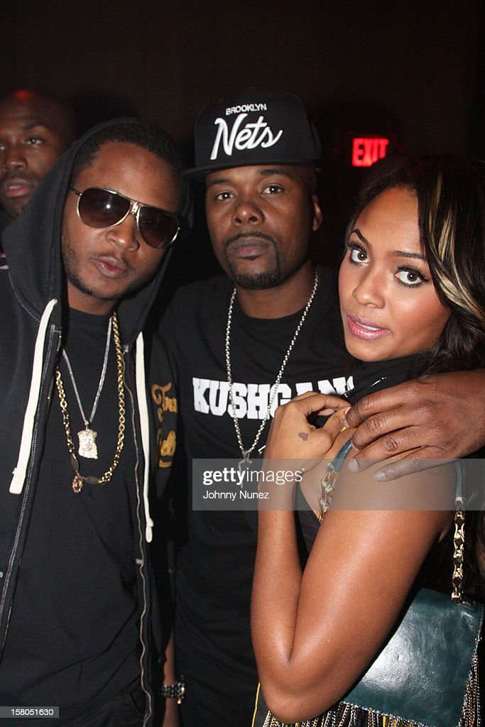 Young Chris, Memphis Bleek and Teairra Mari attend the D'USSE cognac launch party at LIV nightclub at Fontainebleau Miami on December 9, 2012 in Miami Beach, Florida.