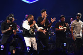 Young Chris Memphis Bleek Beanie Siegel JayZ Freeway and Neef Buck perform during TIDAL X JayZ Bsides in NYC on May 17 2015 in New York City