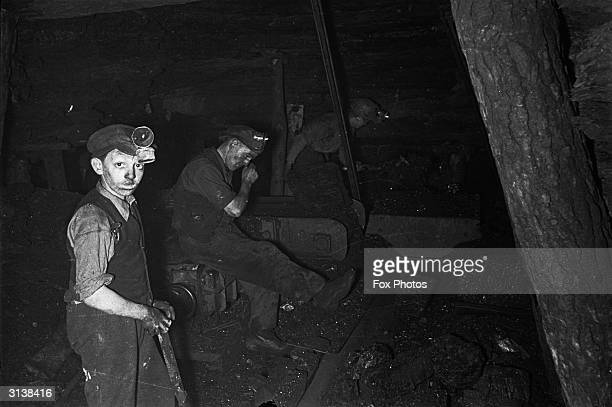 Young coal miners at work in the colleries at Blaenafon