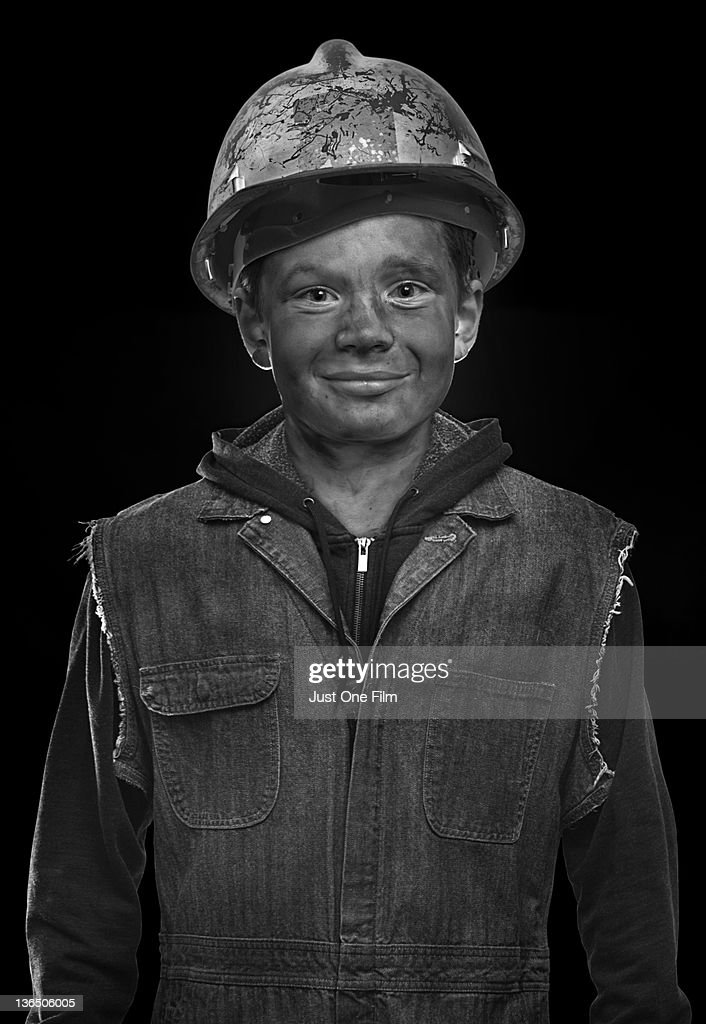 Young Coalminer : Stock Photo