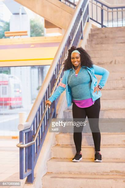 Young confident black woman ready to exercise