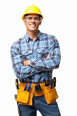 Young Construction Worker - Isolated