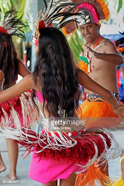 Young Cook Island dancers in traditional costume