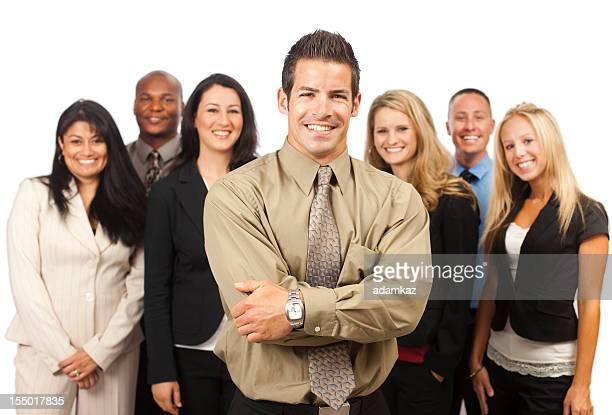 Portrait de l'équipe d'entreprise Jeune