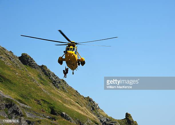 CONTENT] A young couple and their dog became trapped by the quickly rising tide and had to be flown to safety by a Royal Air Force search and rescue...