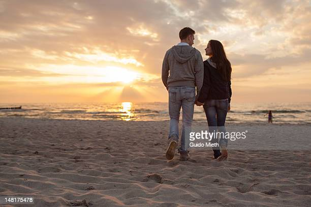 Young couple at beach