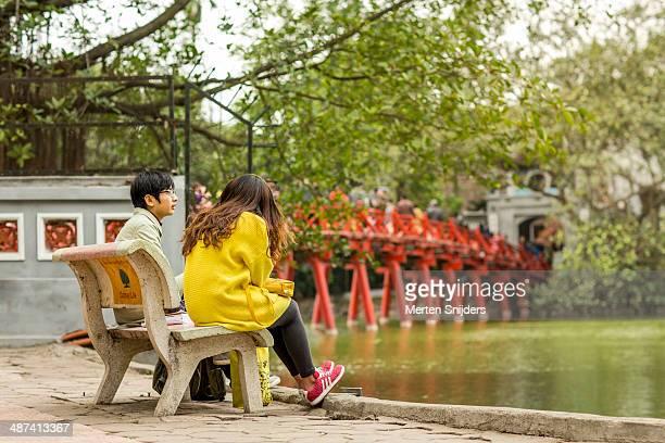Young couple at Huc bridge