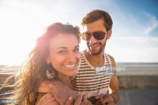 Young couple at San Diego beach
