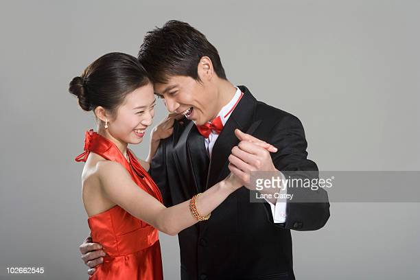 Young couple ballroom dancing