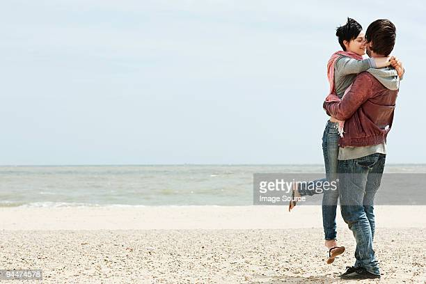 Young couple by the sea