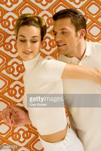 Young couple dancing, close-up : Stock Photo
