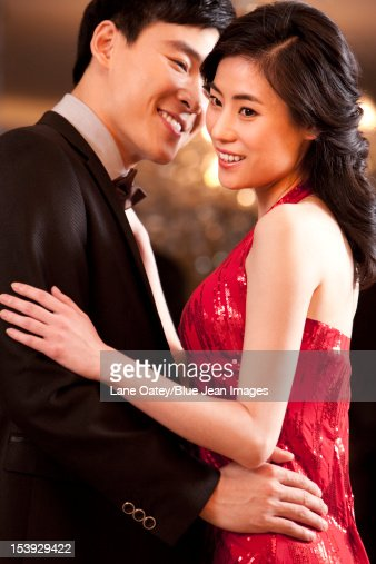 detail photo sweet young chinese couple dating royalty free image