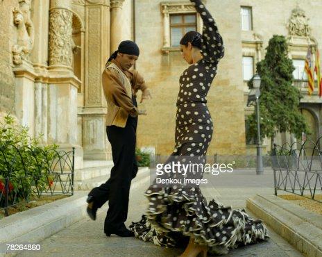 Young couple dancing : Stock Photo