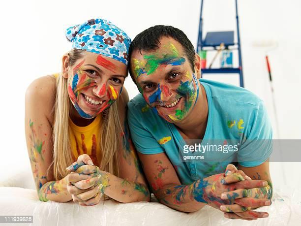 Jeune couple décoration