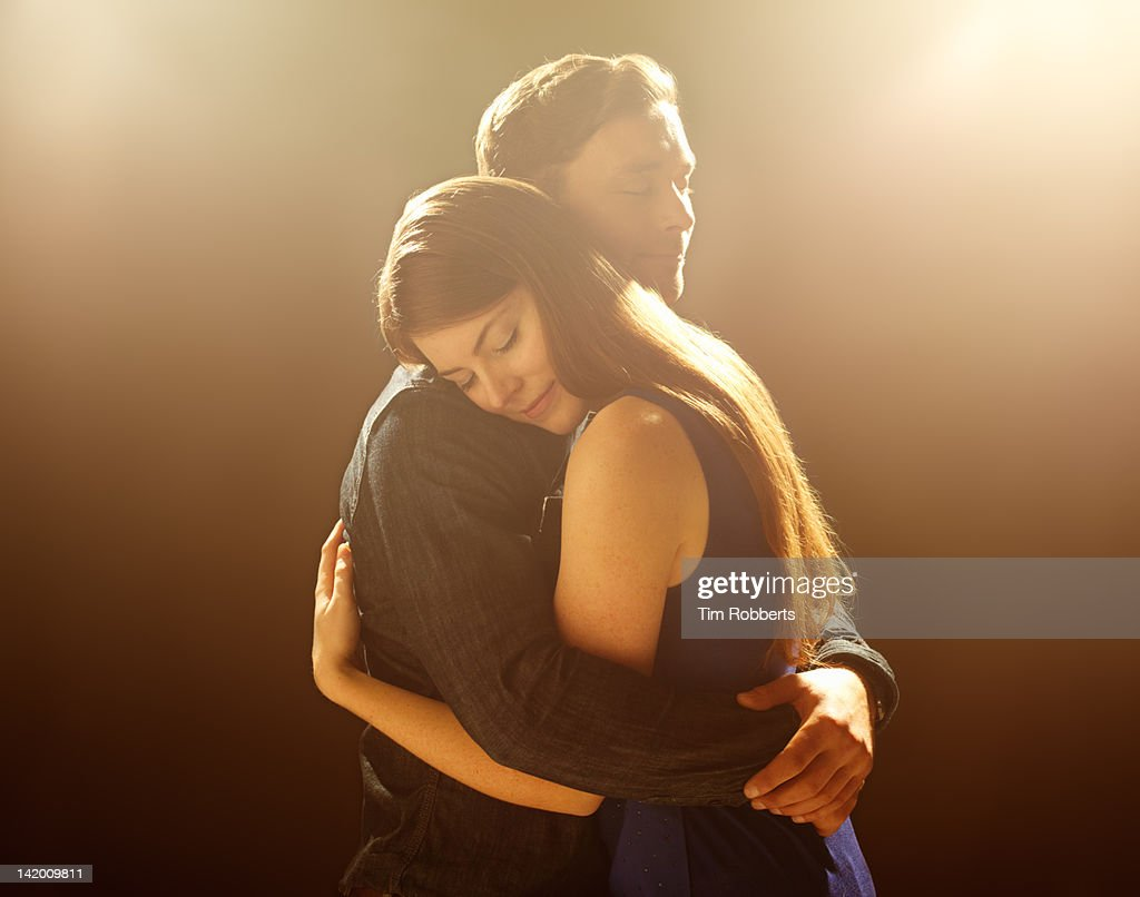 Young Couple embracing. : Stock Photo