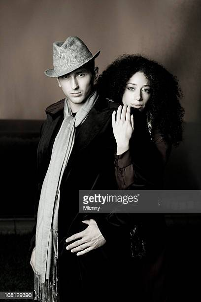 Young couple fashion portrait