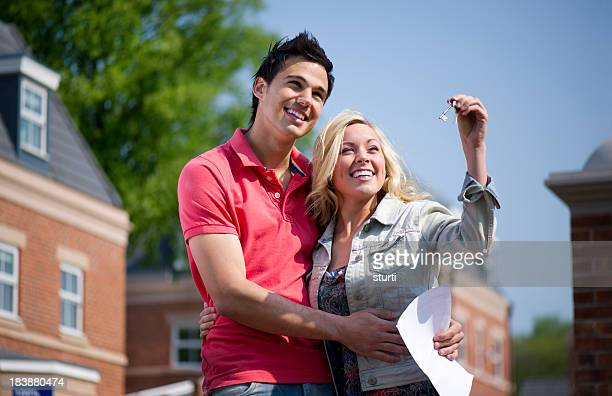 Young couple get their key