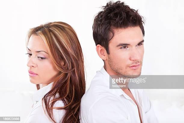 Junges Paar, ein Beziehungsproblem