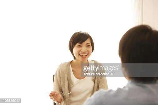 Young Couple Having Breakfast : Stock Photo