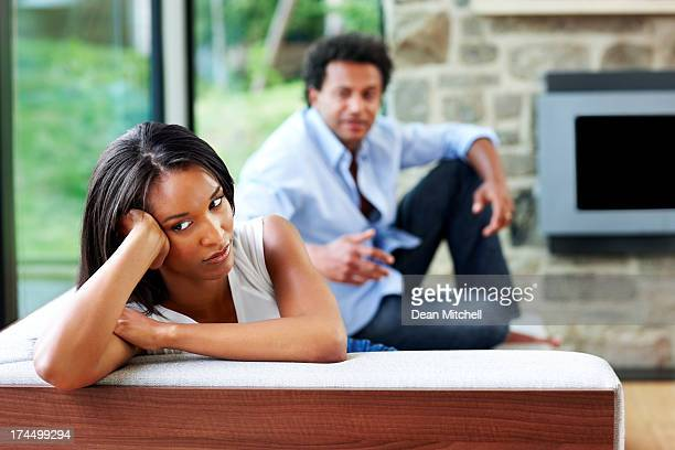 Young couple having relationship crisis