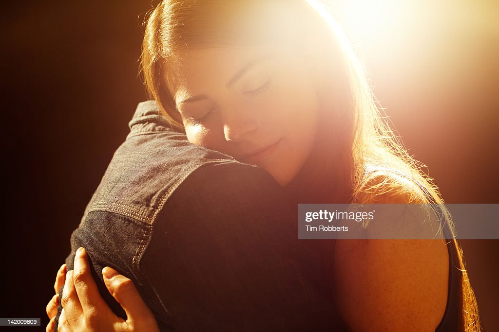 Young couple hugging. : Stock Photo