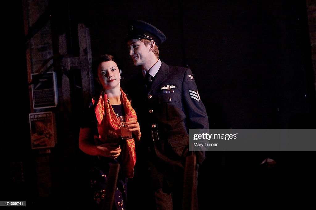 A young couple in 1940's costume arrive at The Blitz Party on February 22, 2014 in London, England. Deep in an East End bunker hundreds of vintage enthusiasts partied like it was 1940 in a range of wartime costumes, dancing to Swing and Jazz music while drinking themed cocktails at The Spitfire Bar, as they embraced the glamour of and nostalgia for the era.