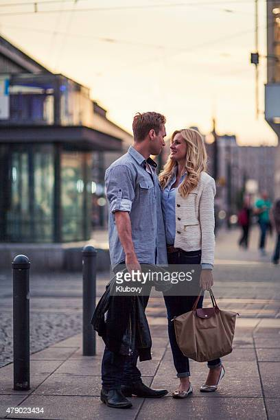 Young couple in a city