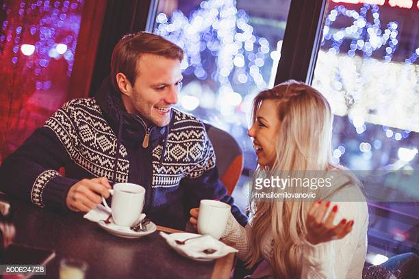 Young couple in a coffee shop