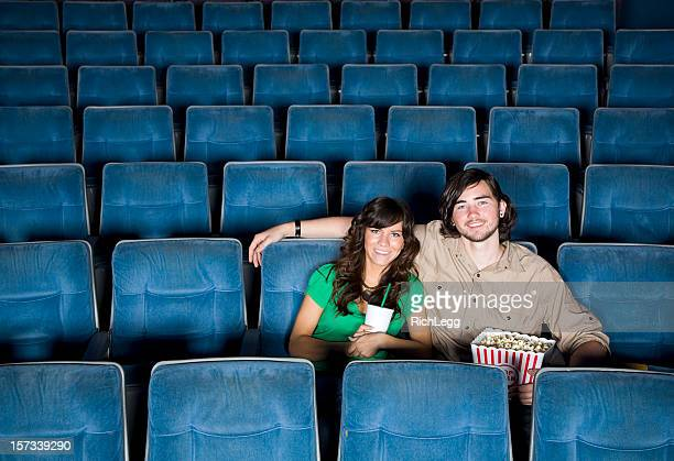 Young Couple in a Movie Theater