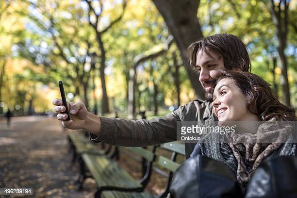 Young Couple in Central Park, New York City