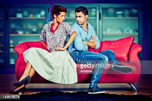 Young couple in conflict : Stock Photo