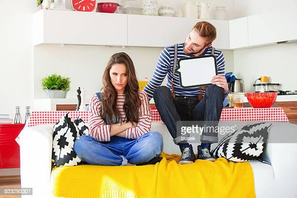 Junges Paar in Konflikt