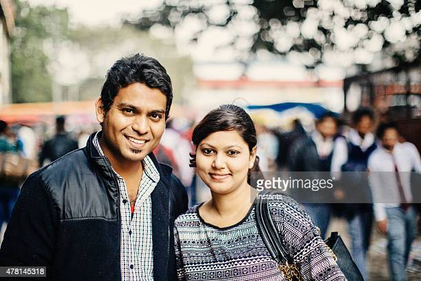 Young couple in New Delhi