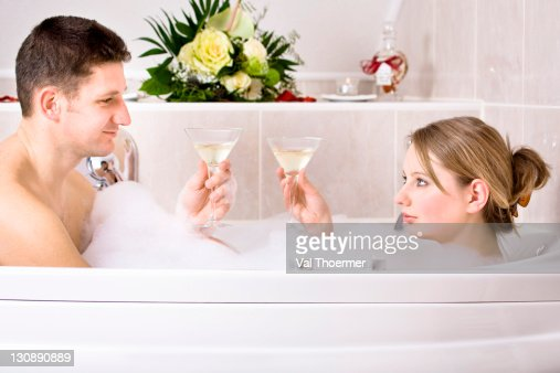romantic bubble bath stock photos and pictures getty images