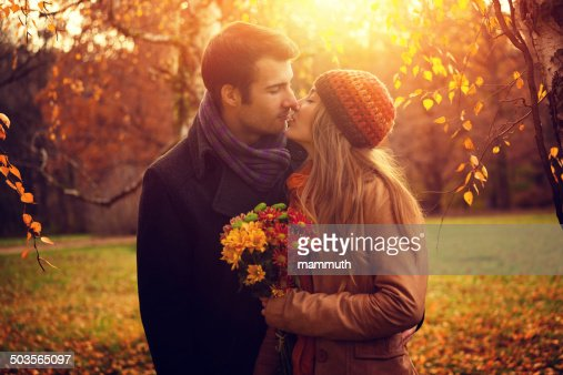 young couple in the nature