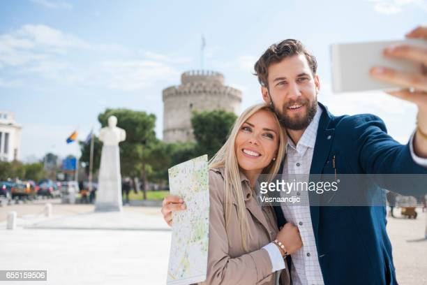 Young couple in Thessaloniki