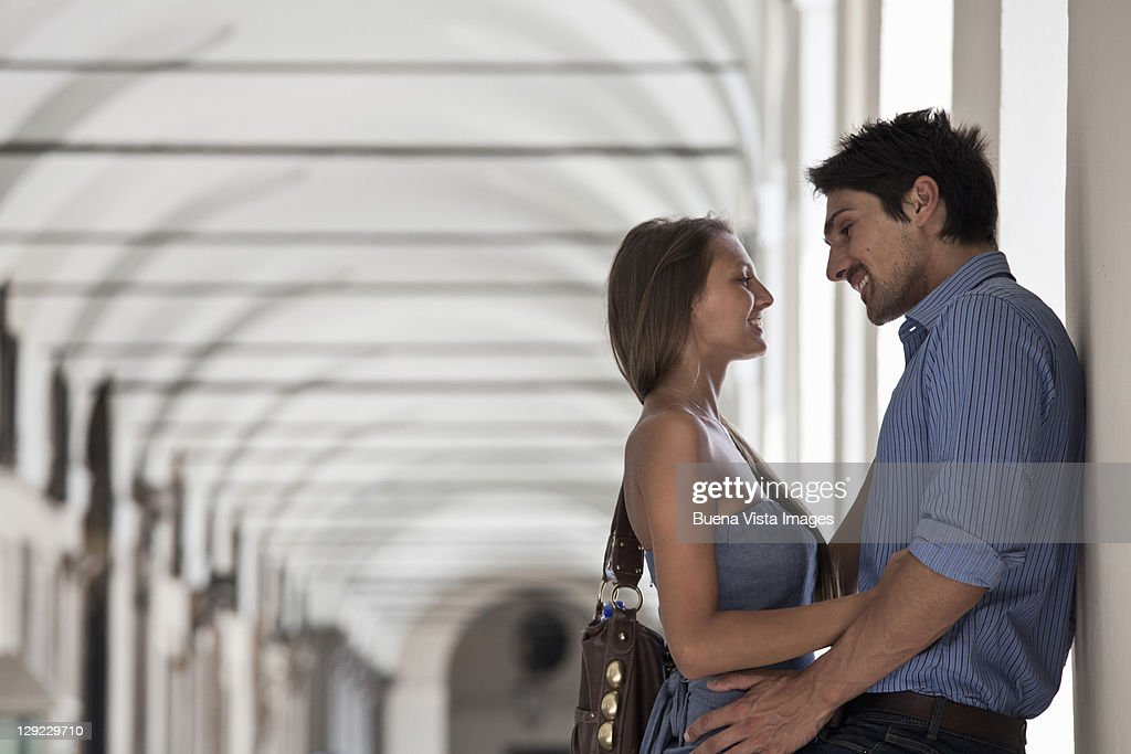 Young couple in Turin, Italy. : Stock Photo