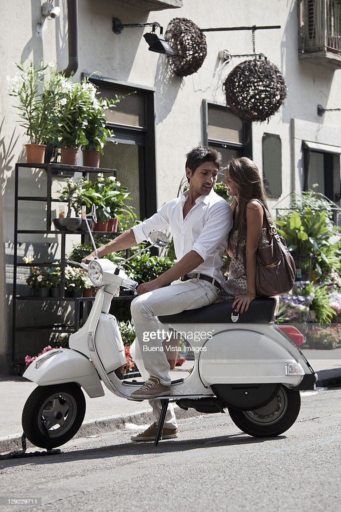 Young couple in Turin, Italy.