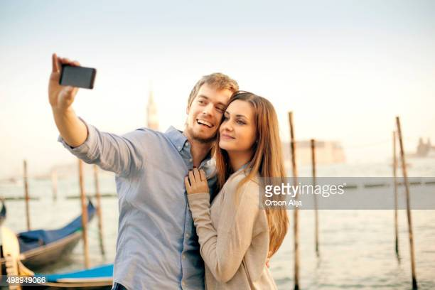 Young couple in Venice