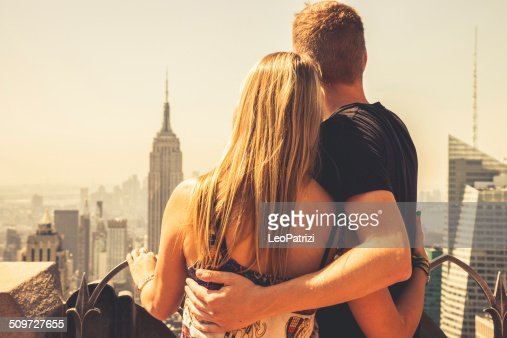 Young couple in visit to New York