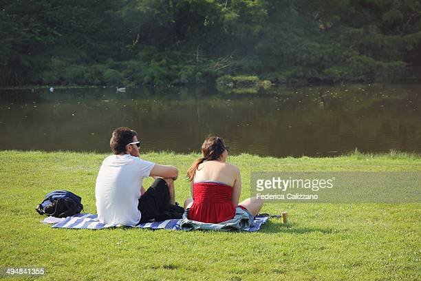 Young couple in Vondelpark